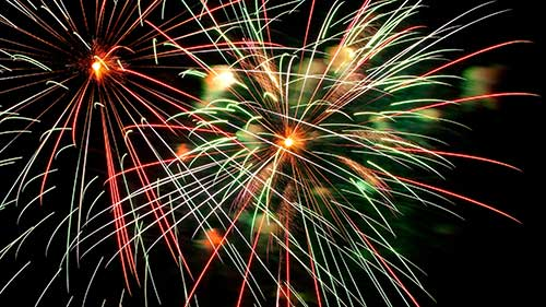 Fireworks will happen at the conclusion of the evening, sometime between 9pm-9:30pm.